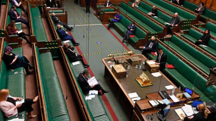 UK parliament in session. PHOTO | AFP