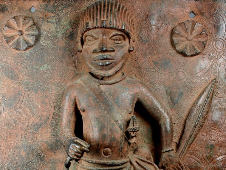 Junior Court Official is one of two 16th-century plaques produced at the Court of Benin that will be returned to Nigeria by the Met. Courtesy The Metropolitan Museum of Art